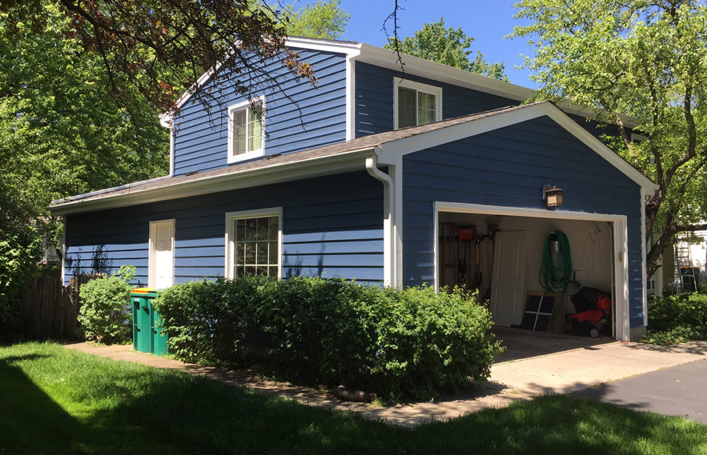 Blue Siding, White Trim