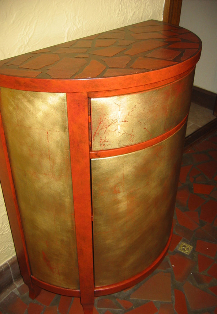 Gilded Demilune Table